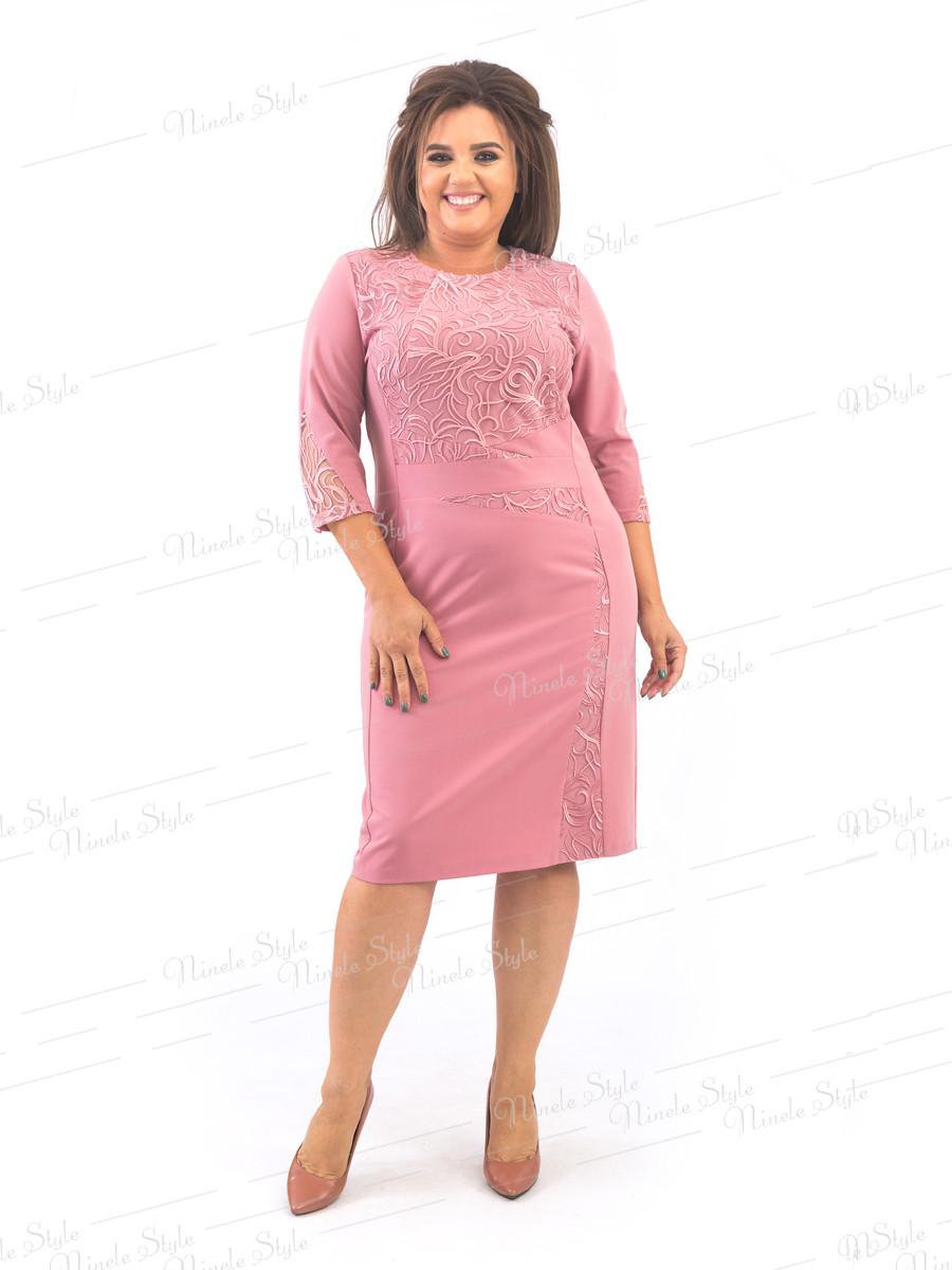 Розовое нарядное женское платье   377 54