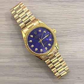 Часы Rolex Date Just New Gold-Blue SKL39-225481