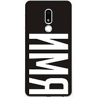 Именной чехол для Meizu M8 Lite бампер с фамилией