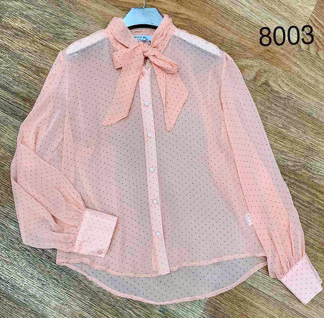 Прозрачная женская рубашка в горошек 42-48 ( в расцветках)