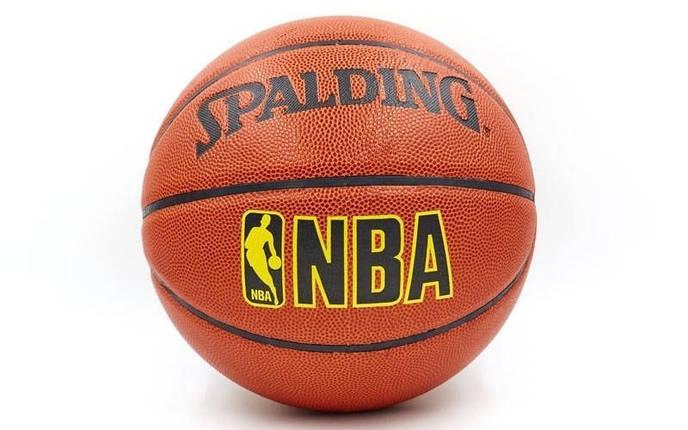 Мяч баскетбольный PU №7 SPALD NBA, фото 2