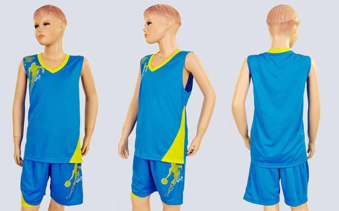 Форма баскетбольная подростковая Pace  (PL, р-р S, M, L,115,120, рост 125-165, голубой), фото 2