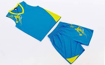 Форма баскетбольная подростковая Pace  (PL, р-р S, M, L,115,120, рост 125-165, голубой), фото 3