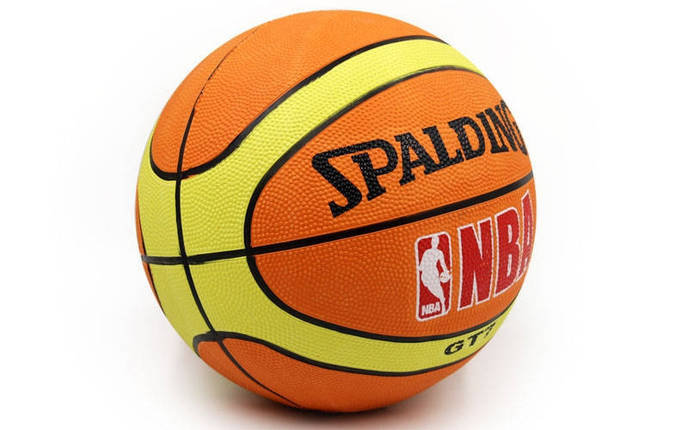 Мяч баскетбольный резиновый №7 Spald, фото 2