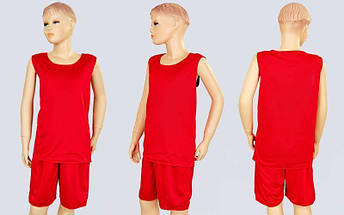 Форма баскетбольная подростковая двусторонняя сетка Stalker (рост 125-160, красный-черный), фото 2