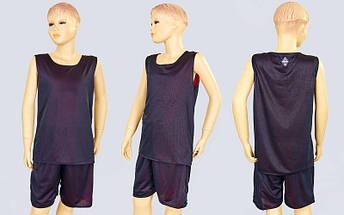 Форма баскетбольная подростковая двусторонняя сетка Stalker (рост 125-160, красный-черный), фото 3