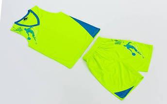 Форма баскетбольная подростковая Pace  (PL, р-р S, M, L,115,120, рост 125-165, салатовый-голубой), фото 3