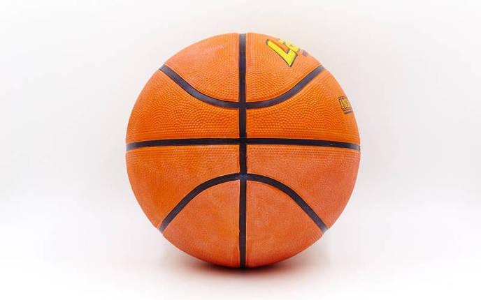 Мяч баскетбольный резиновый №6 LANHUA Super soft Indoor (резина, бутил, оранжевый), фото 2