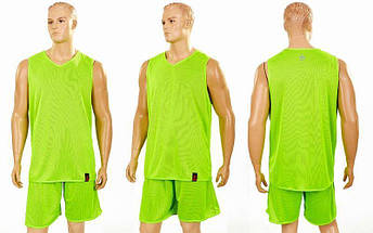Форма баскетбольная мужская двусторонняя однослойная Ease (рост 160-190 см, салатовый), фото 3