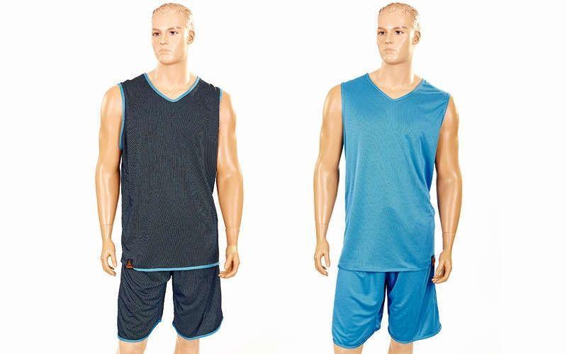 Форма баскетбольная мужская двусторонняя однослойная Ease (рост 160-190 см,голубой)