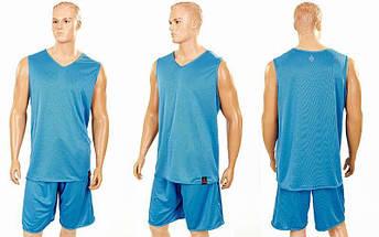 Форма баскетбольная мужская двусторонняя однослойная Ease (рост 160-190 см,голубой), фото 3