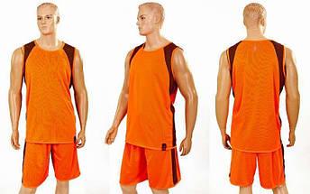 Форма баскетбольная мужская двусторонняя однослойная Unite (рост 160-190 см,оранжевый), фото 3