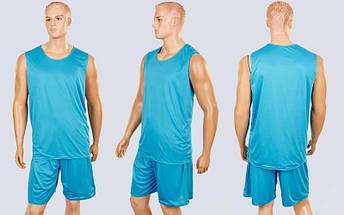 Форма баскетбольная мужская двусторонняя сетка Stalker (рост 165-190 см, серый-голубой), фото 2