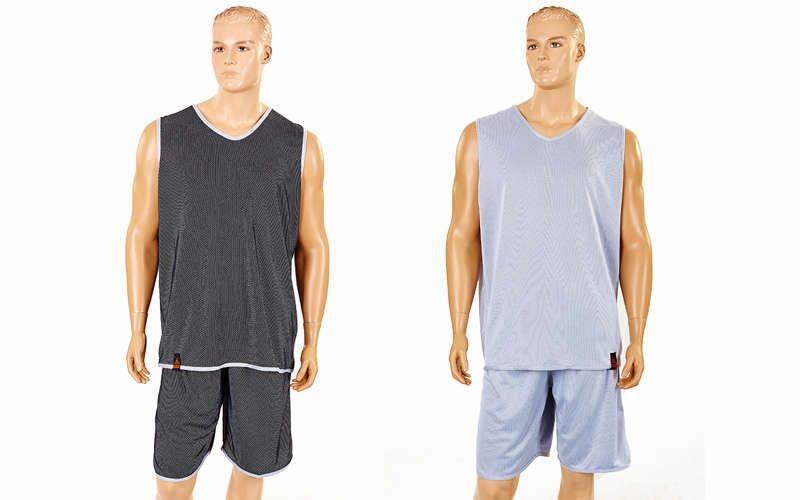 Форма баскетбольная мужская двусторонняя однослойная Ease (рост 160-190 см,серый)