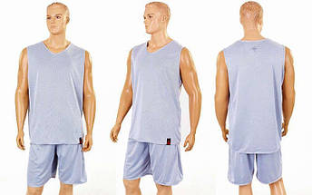 Форма баскетбольная мужская двусторонняя однослойная Ease (рост 160-190 см,серый), фото 3