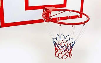 Щит баскетбольный с кольцом и сеткой UR (щит металл 100x67см, кольцо 40см), фото 2