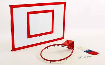 Щит баскетбольный с кольцом и сеткой UR (щит металл 100x67см, кольцо 40см), фото 3