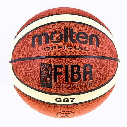 Мяч баскетбольный Mol №7 PU, фото 2