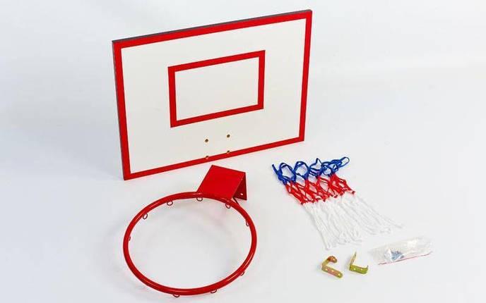 Щит баскетбольный с кольцом и сеткой UR (щит ДСП 60x50см, кольцо 30см), фото 2