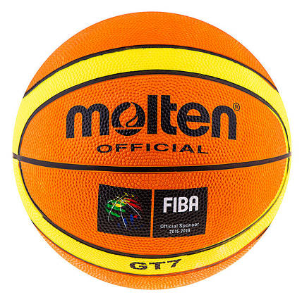 Мяч баскетбольный №7 резиновый  Molten GT-7, фото 2