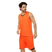 Форма баскетбольная мужская LD-8002-5 (PL, оранжевый-черный), фото 3