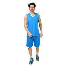 Форма баскетбольная мужская LD-8002-6 (PL, голубой-белый ), фото 3