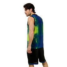 Форма баскетбольная мужская LD-8007-2 (PL, синий-салатовый ), фото 3