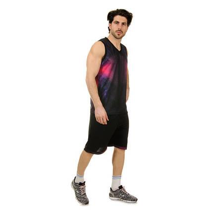 Форма баскетбольная мужская LD-8007-4 (PL,  черный-фиолетовый ), фото 2