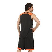 Форма баскетбольная мужская LD-8002-3 (PL, черный-оранжевый), фото 2