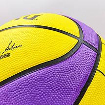 Мяч баскетбольный резиновый №7 SPALDING NBA Team LA LAKERS, фото 2