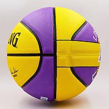 Мяч баскетбольный резиновый №7 SPALDING NBA Team LA LAKERS, фото 3