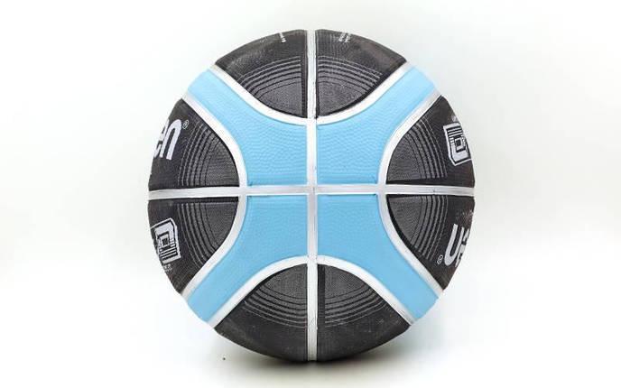 Мяч баскетбольный резиновый №7 MOLTEN (сине-голубой), фото 2