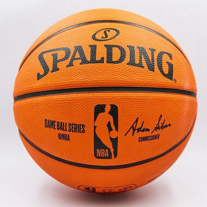 Мяч баскетбольный резиновый №7 SPALDING NBA Outdoor (оранжевый)
