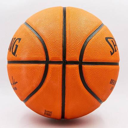 Мяч баскетбольный резиновый №7 SPALDING NBA Outdoor (оранжевый), фото 2