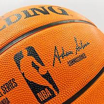 Мяч баскетбольный резиновый №7 SPALDING NBA Outdoor (оранжевый), фото 3