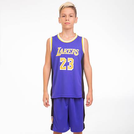 Форма баскетбольная подростковая NBA LAKERS 23 BA-0563-1, фото 2