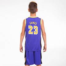 Форма баскетбольная подростковая NBA LAKERS 23 BA-0563-1, фото 3
