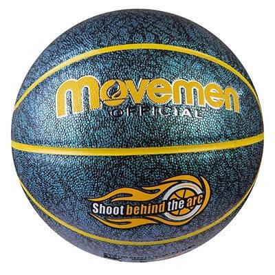 Мяч баскетбольный Movemen №7 PU глиттер, фото 2