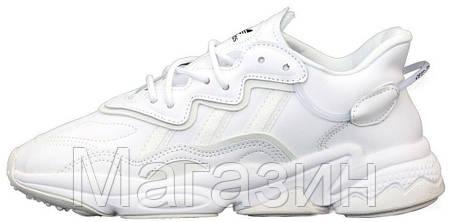 Женские кроссовки adidas Ozweego White (Адидас Озвиго) белые, фото 2
