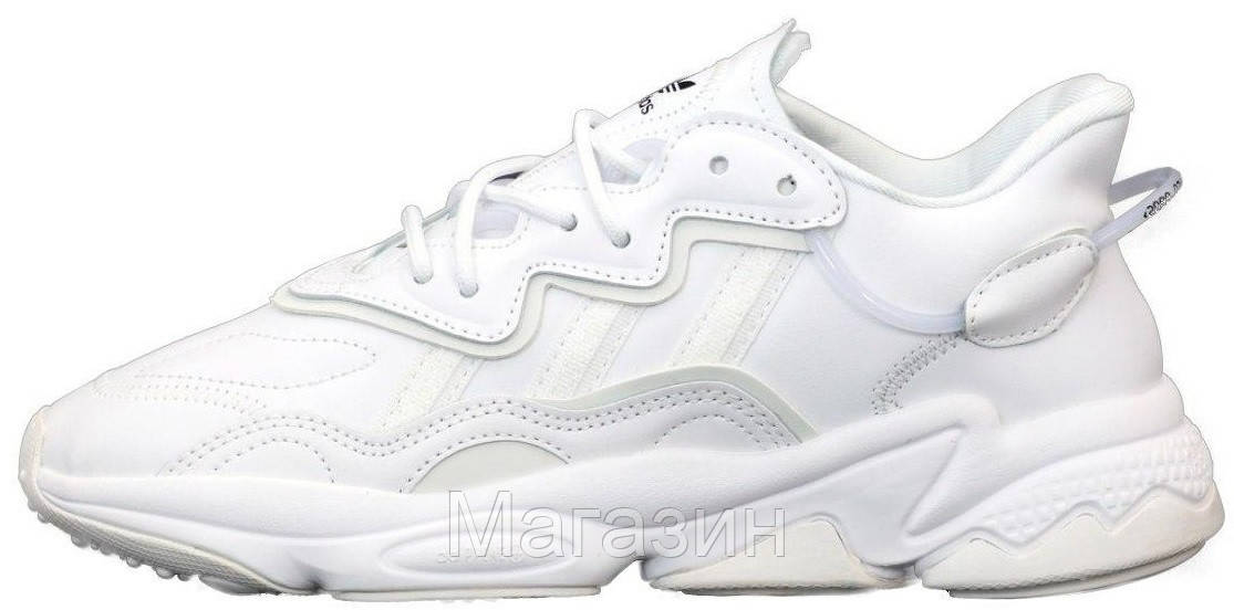 Женские кроссовки adidas Ozweego White (Адидас Озвиго) белые