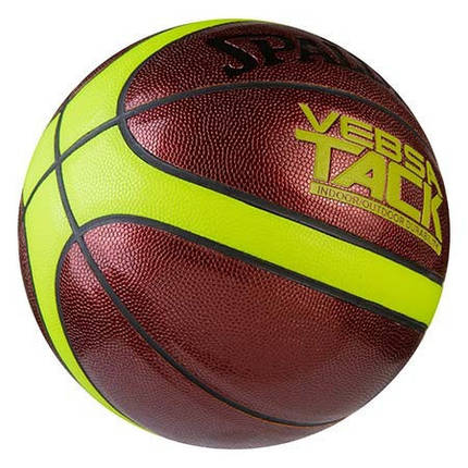 Мяч баскетбольный Spalding №7 PU  неон VebsaTask, фото 2