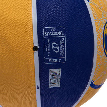 Мяч баскетбольный резиновый №7 SPALDIN 83304Z NBA TEAM-WARRIORS, фото 2