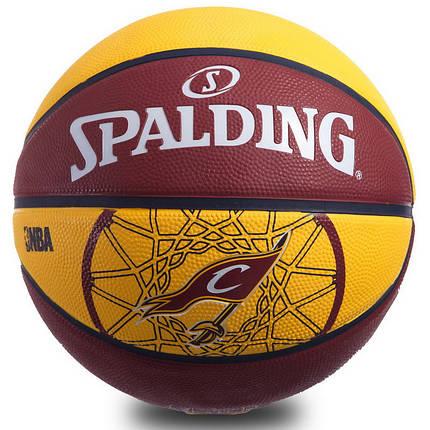 Мяч баскетбольный резиновый №7 SPALDIN 83218Z 2015 NBA TEAM-CAVALIERS, фото 2