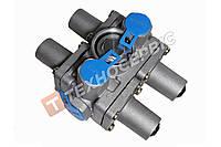 Клапан защитный многоцикловой 4-х контурный DAF IVECO NEOPLAN MAZ KAMAZ (934 702 302 0) (100-3515410)