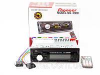 Автомагнитола Pioneer 3920 Usb + RGB подсветка + Sd + Fm + Aux+ пульт (4x50W)!Лучший подарок