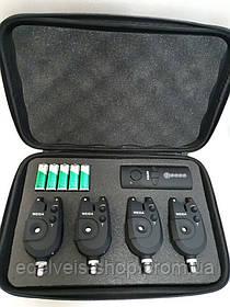 Набор сигнализаторов для рыбалки c пейджером  WEIDA(kaida) 4 сигнализатора+пейджер FA02-4