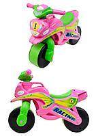 Мотоцикл-каталка МотоБайк Спорт (музыкальная) Фламинго (0139/3)