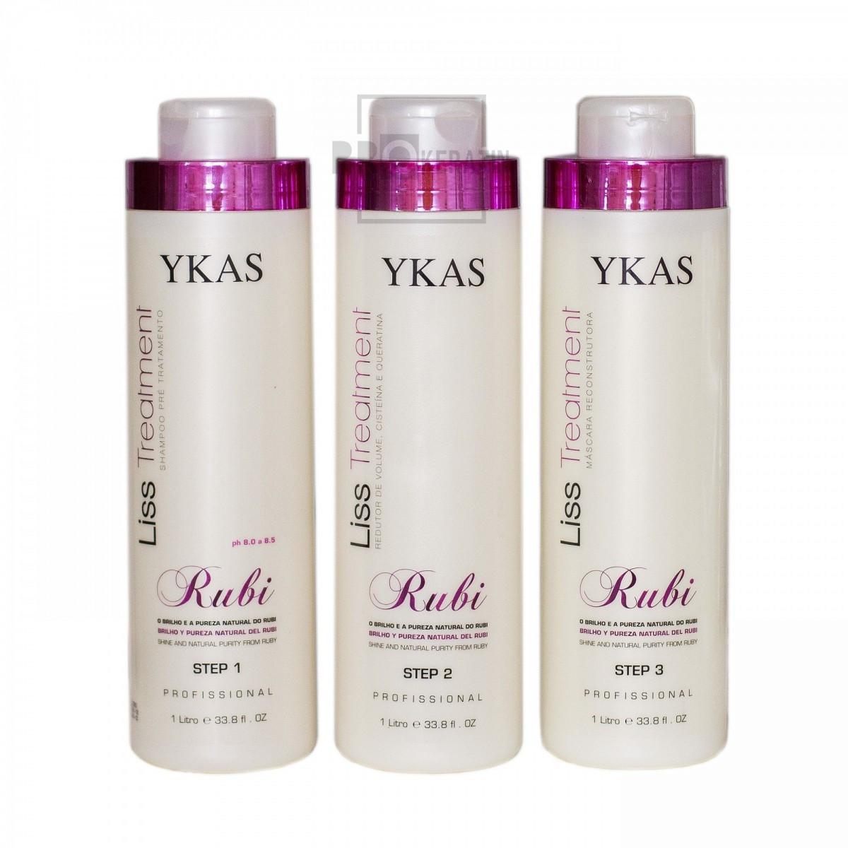 YKAS Rubi Набор кератина для волос 3х500 г (разлив)