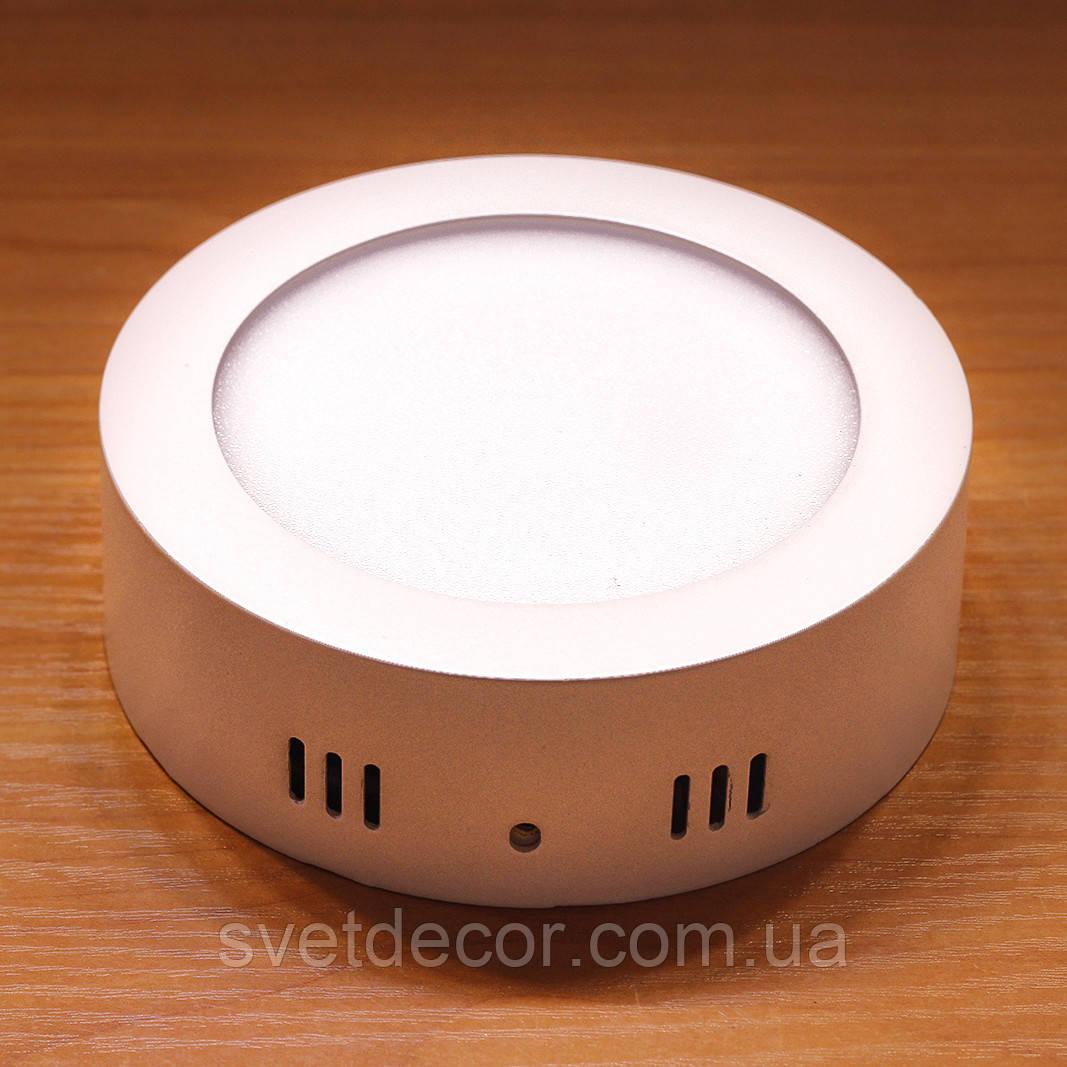 Светильник накладной светодиодный Feron AL504 6W 4000К LED панель круг