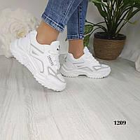 Женские кроссовки белый + серый, фото 1
